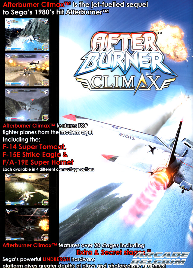 After Burner Climax brochure side B