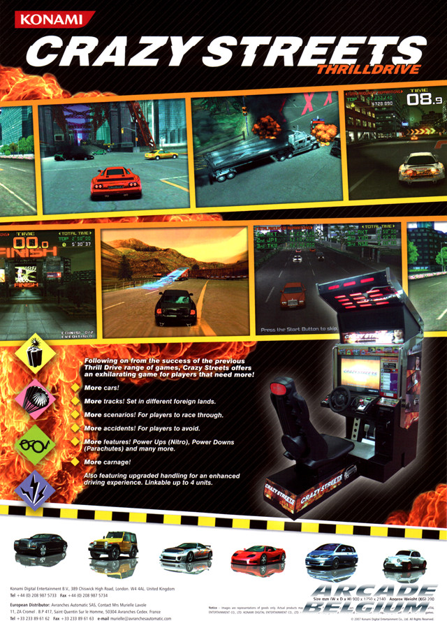 Crazy Streets - Thrill Drive brochure