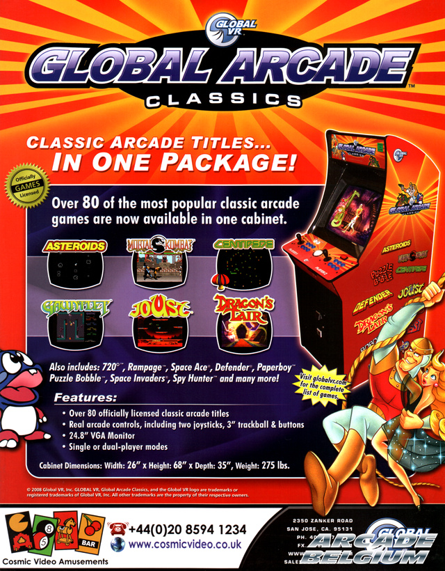 Global Arcade Classics brochure side A