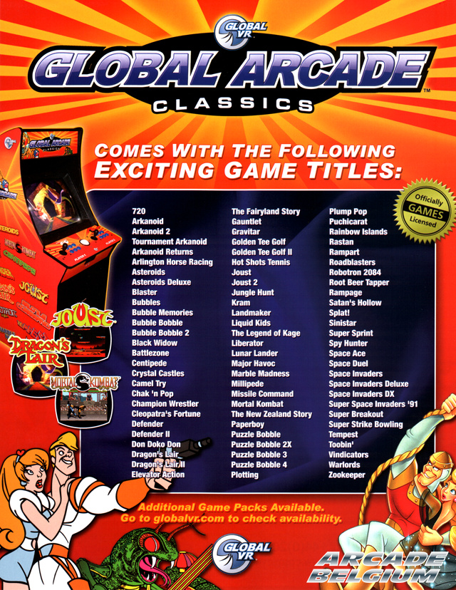 Global Arcade Classics brochure side B