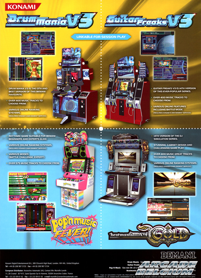 Pop'n Music Fever! brochure