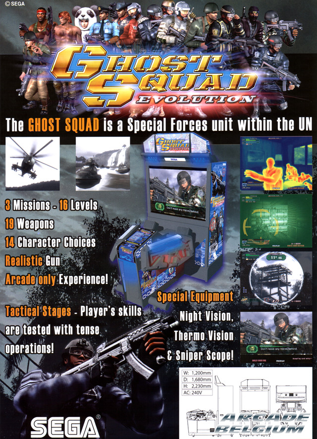 Ghost Squad Evolution brochure side B