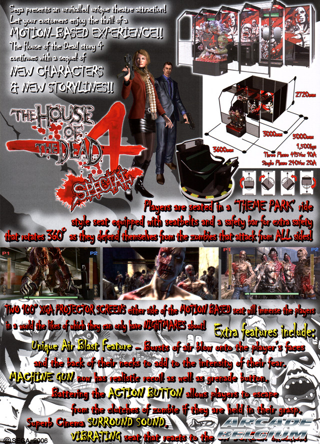 The House of the Dead 4 Special brochure side B