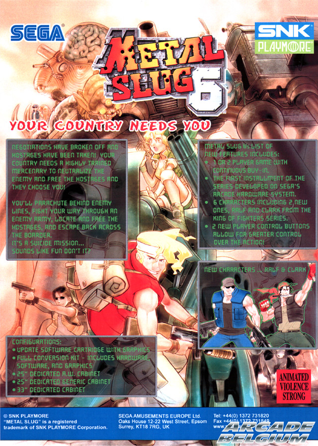 Metal Slug 6 brochure
