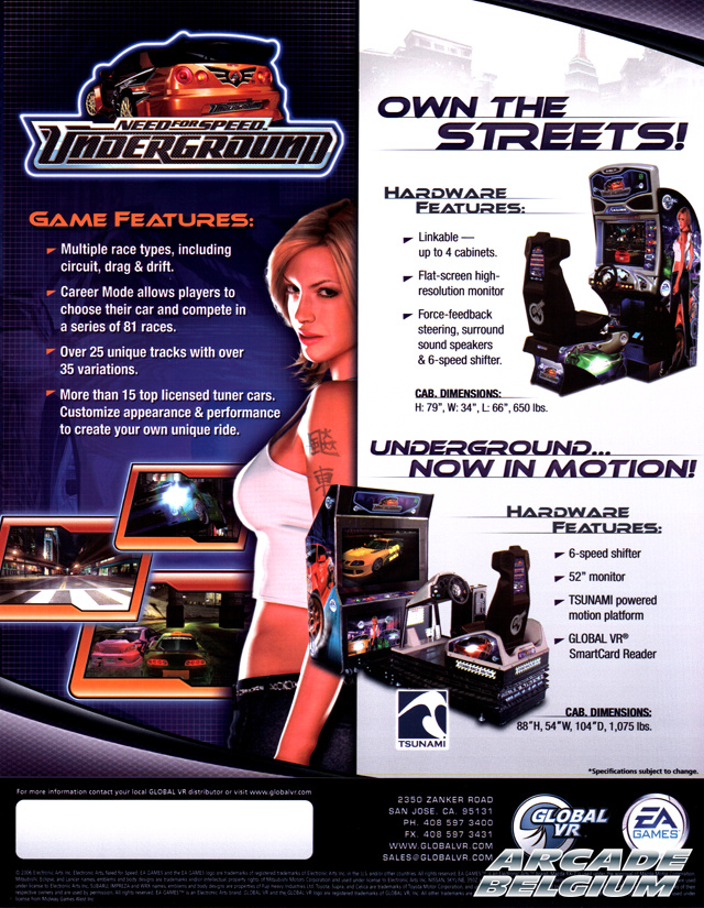 Need for Speed Underground brochure