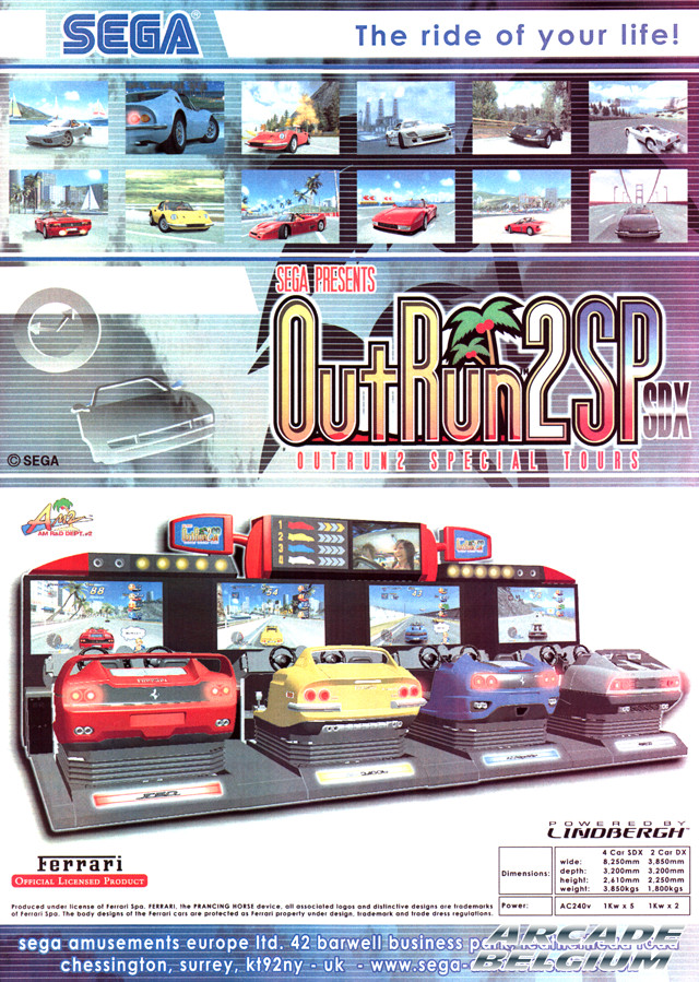 OutRun 2 SP SDX brochure side A