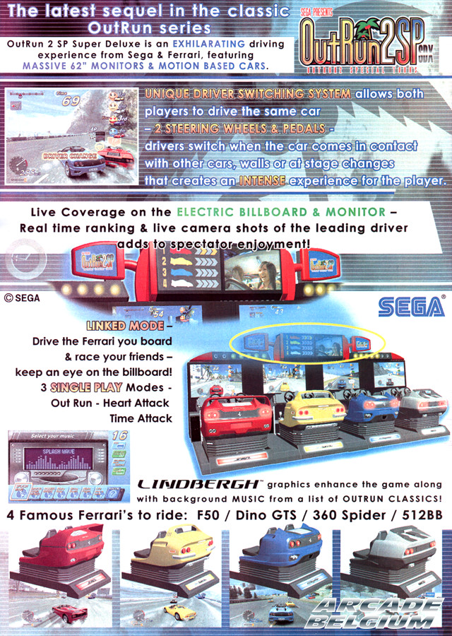 OutRun 2 SP SDX brochure side B