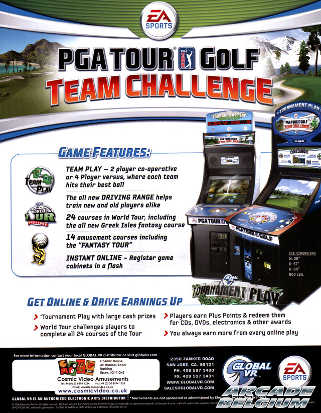 PGA Tour Golf Team Challenge brochure