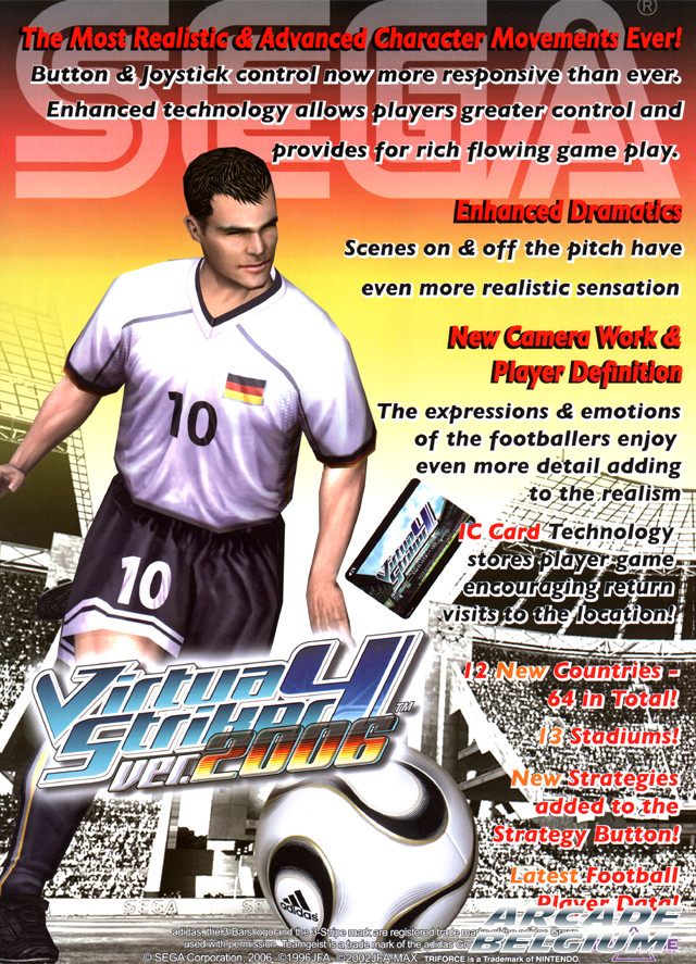 Virtua Striker 4 ver. 2006 brochure side B
