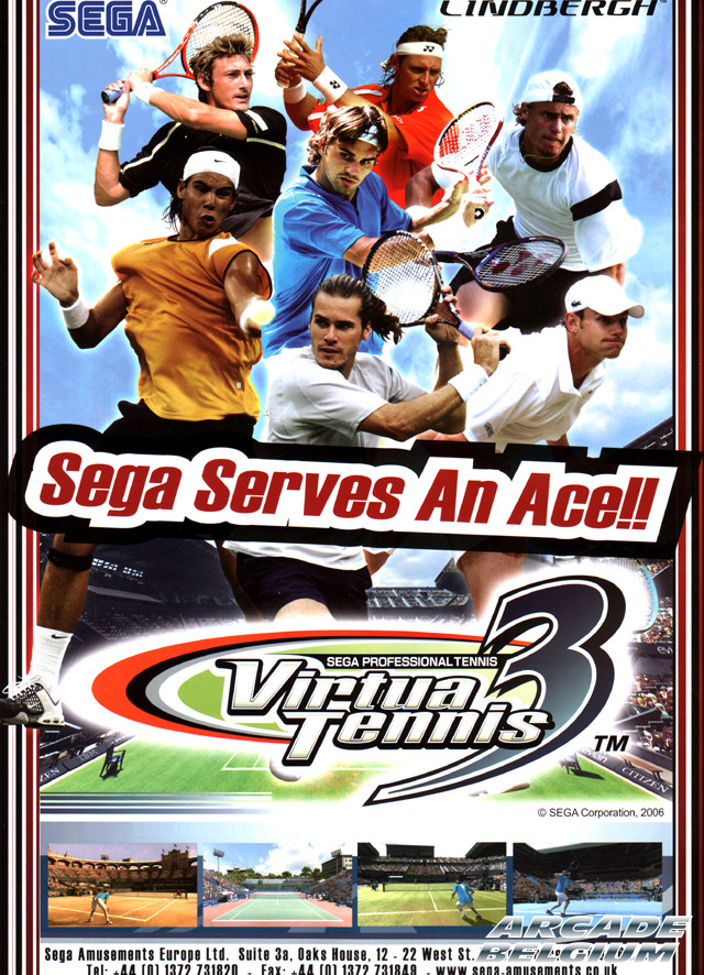Virtua Tennis 3 brochure side A