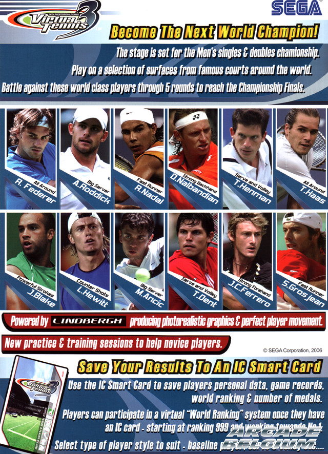 Virtua Tennis 3 brochure side B