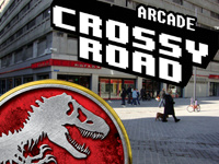 Play Jurassic Park Arcade and Crossy Road Arcade in Belgium
