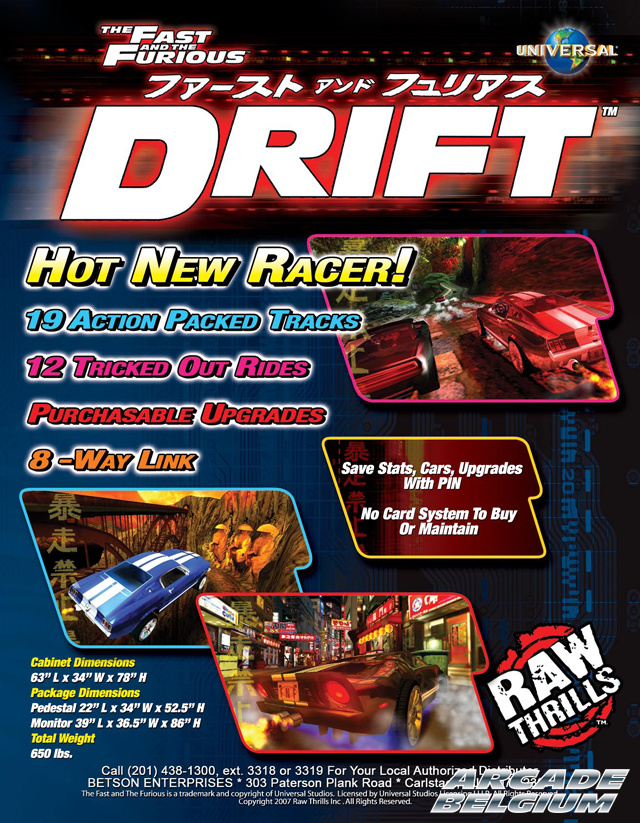 The Fast and the Furious Drift brochure side B